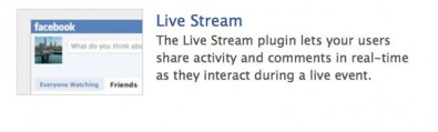 plugin Live stream facebook