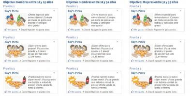 anuncios diferentes en facebook
