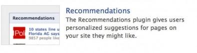 recomendaciones plugin facebook