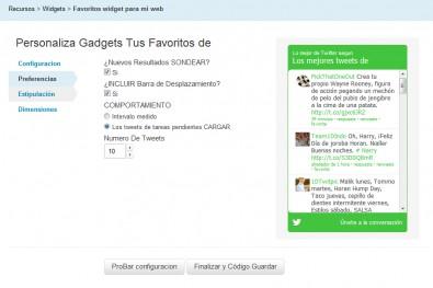 widget favoritos twitter