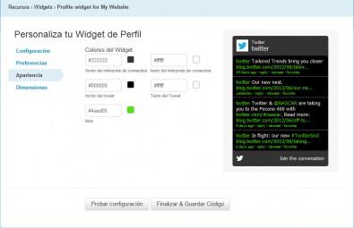 widget perfil twitter